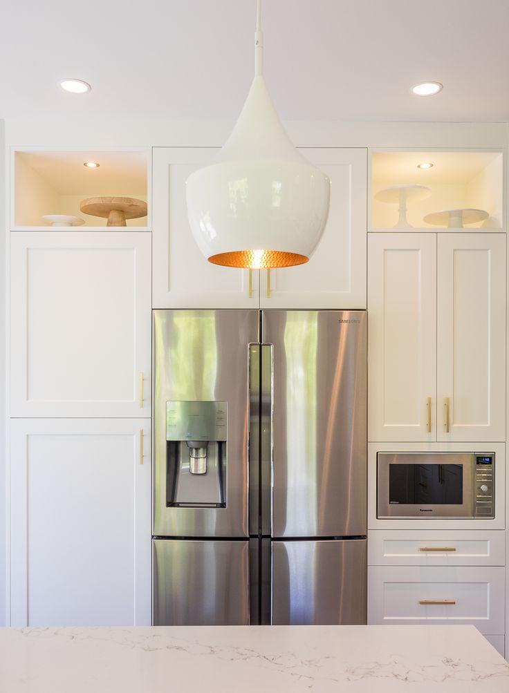 White + Gold Kitchen