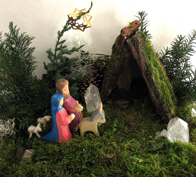 nativity nature table