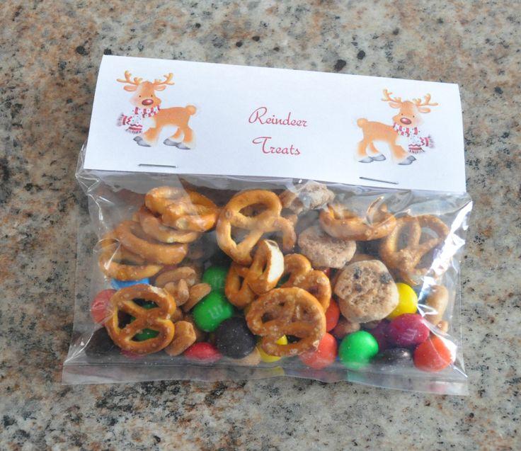 christmas treat bag ideas, reindeer treats