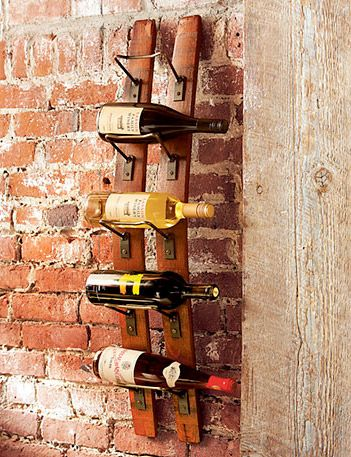 Happiness Crafty: 11 Unique Wine Racks Ideas using barrel staves...cool!