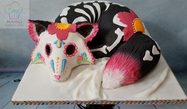 Sugar Skull Bakers - Fox - Cake by mamgi - CakesDecor