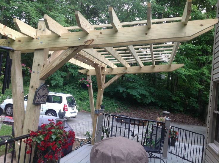 Cantilevered Pergola Diy Designed And Built Outdoor