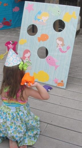 "Photo 17 of 28: Mermaid Party / Birthday ""Katie's Under the Sea 4th Birthday Party"""
