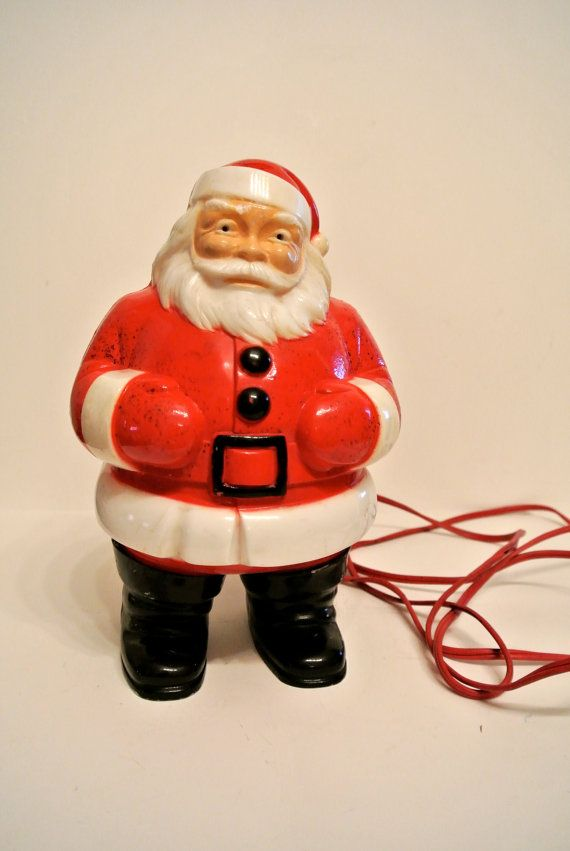 Rare Vintage Light Up Santa Christmas Decor On Etsy 45