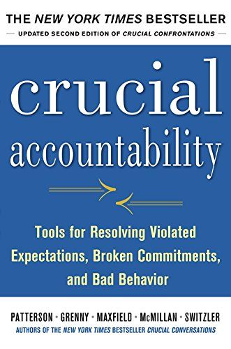 $11 paperback, w/free Prime shipping Crucial Accountability: Tools for Resolving Violated Expectations, Broken Commitments, and Bad Behavior, Second Edition ( Paperback) by Kerry Patterson http://smile.amazon.com/dp/0071829318/ref=cm_sw_r_pi_dp_wmeWvb015Y47X