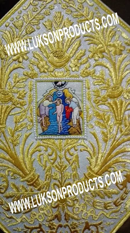 Hand made our live work orthodox epigonation with saints. Golden Shine Embroidery Top Quality Price Just 450 Euro. More One: WWW.LUKSONPRODUCTS.COM