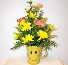 необычный букет цветов -