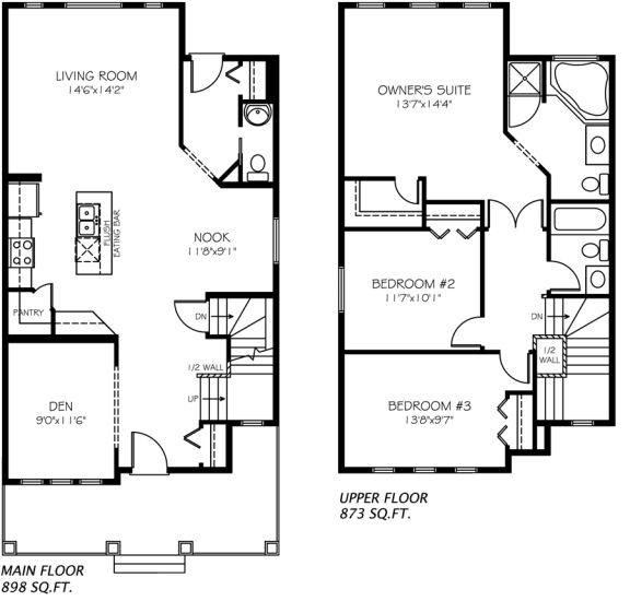 Winchester Model Home floor plan - by Pacesetter Homes, Edmonton