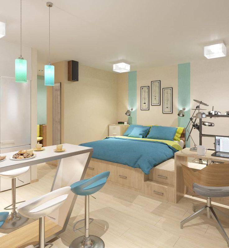 Salas de estar minimalistas por Студия дизайна Виктории Силаевой