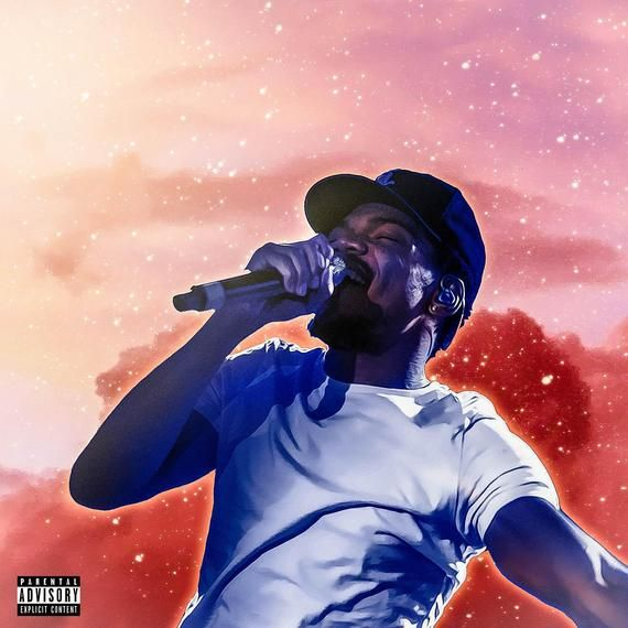 Poster Chance The Rapper The Rapper Coloring Book Album Cover