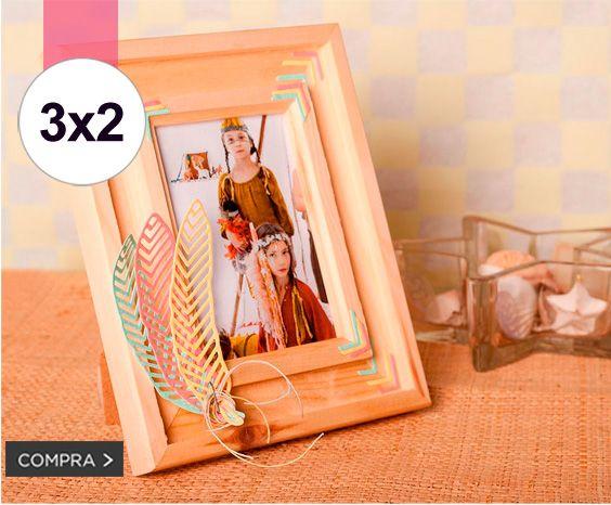 ¡ 3x2 en marcos de madera natural! Para que te los tunees a tu gusto, solo en la shop de Innspiro!