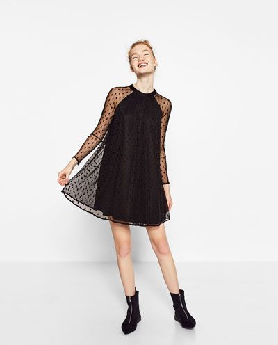 TULLE AND PLUMETIS DRESS-DRESSES-TRF-SALE | ZARA United States