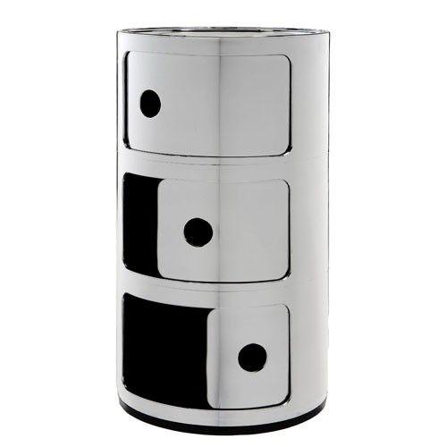 Le meuble de rangement Componibili 3 éléments, Métallisé chrome de Kartell bit.ly/1hDcQk6 #preciouskartell