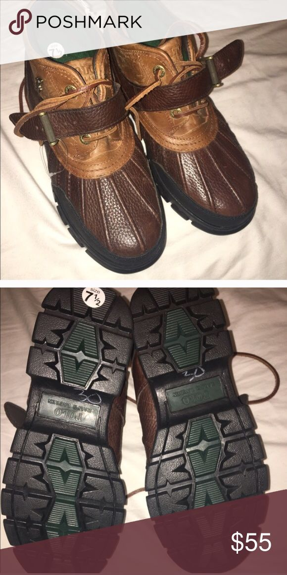 Size 7.5 polo boots Good condition , keeps your feet really warm during snowy and cold weathers , definitely worth the buy Polo by Ralph Lauren Shoes Boots