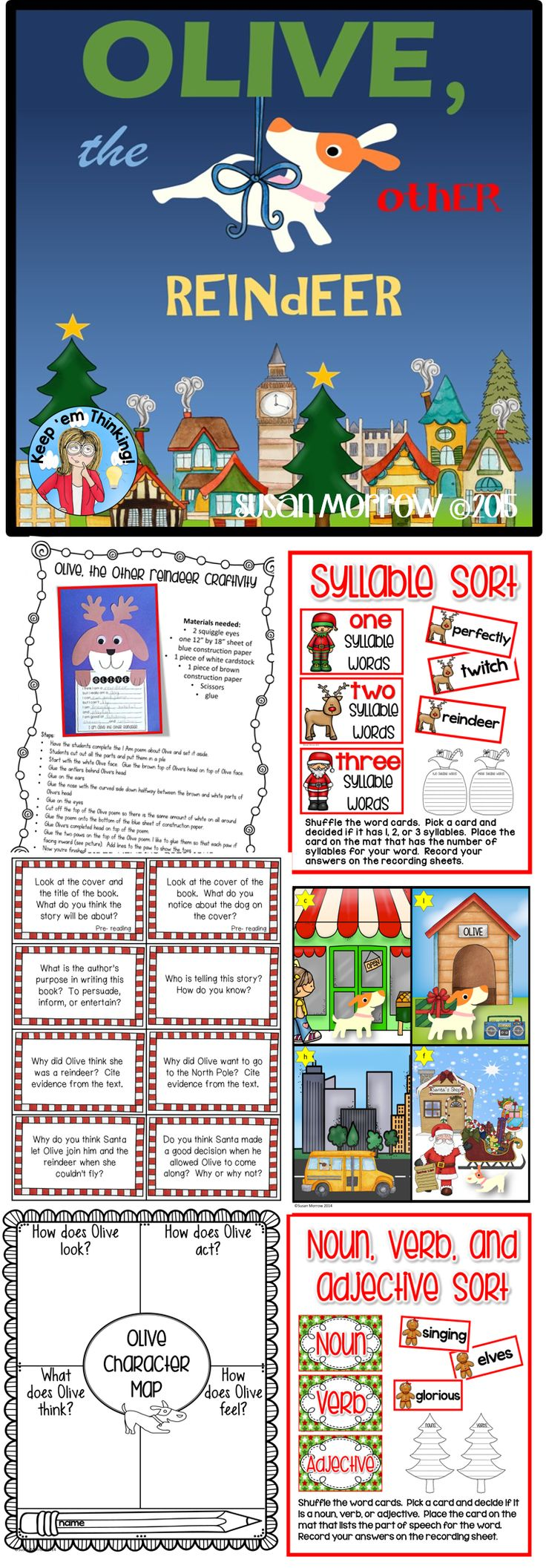 This Olive, The Other Reindeer Literature Guide, is filled with fun activities to accompany the book!