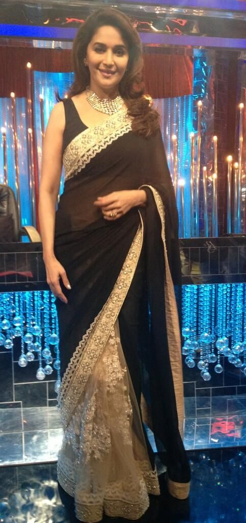 Madhuri Dixit on Jhalak Dikhhla Jaa Season 6 sets #Bollywood #Fashion #Style