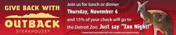 Mom Among Chaos: Detroit Zoo Fundraiser at Outback - Review and Giv...
