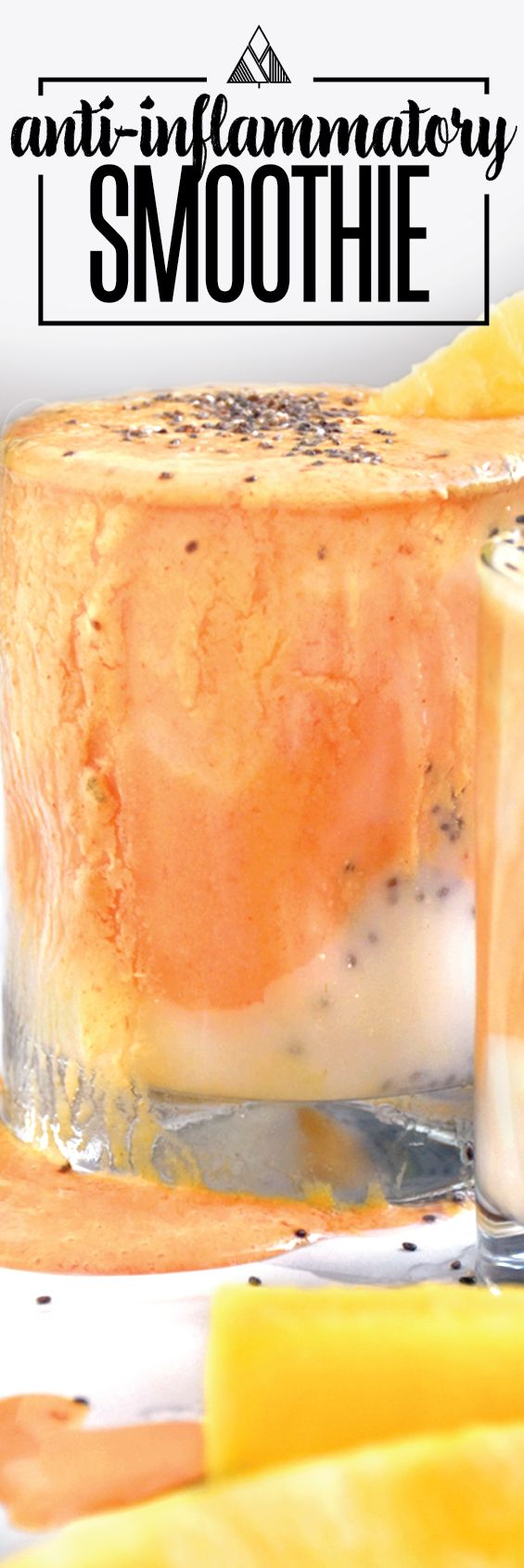 An easy smoothie recipe that is perfect to jumpstart a healthy day of eating. All clean eating ingredients are used for this healthy breakfast recipe. Pin now to try this healthy smoothie later.