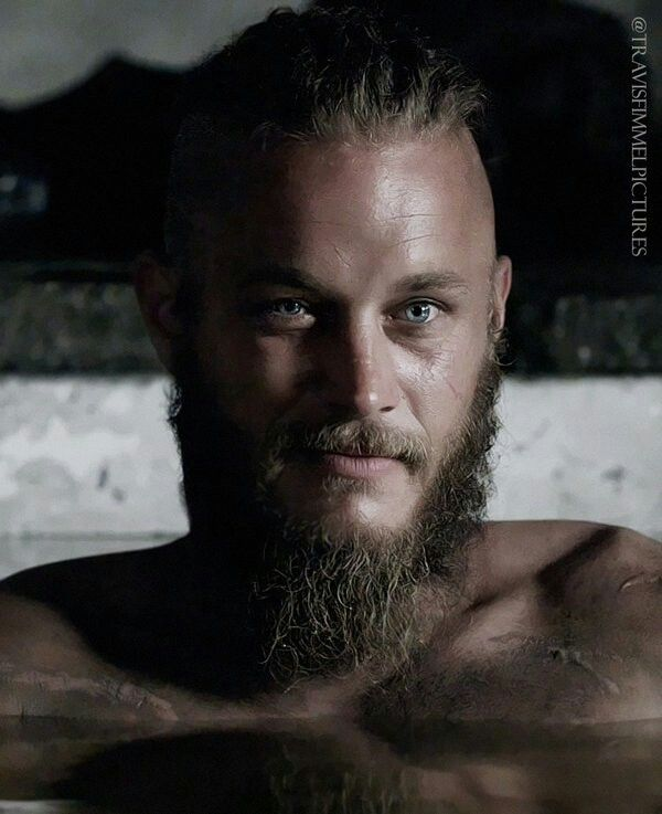"Ragnar Lothbrok by Travis Fimmel. He is Oh! My! God!! The way he goes from being so sexy to absolutely menacing in a second! And how he seems to be mocking everything around him, all the time with an inside joke / scheme in his head! ... ""If I was him I'd worry less about the Gods, and more about the fury of a patient man. And as well you know, I can be very patient."""