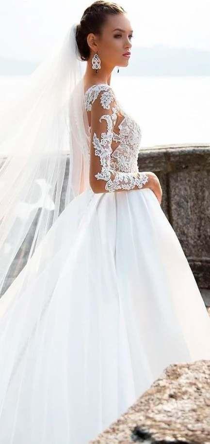 46 Trendy Wedding Dresses Lace Ballgown Modest Wedding Dresses