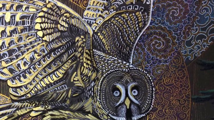 Owls fairy tale: great gray owl / Совиная сказка: бородатая неясыть