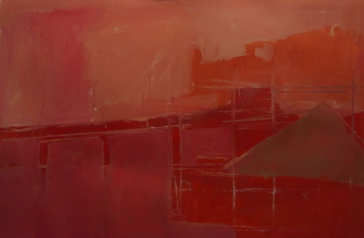 "Saatchi Online Artist: steven heffer; Oil, Painting ""Cement works V 2013"""