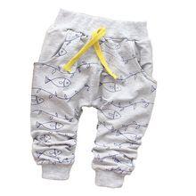 2015 moda peixe bonita recém-nascido calças calças do bebê calças de algodão crianças roupa do bebê 7 - 24 M(China (Mainland))