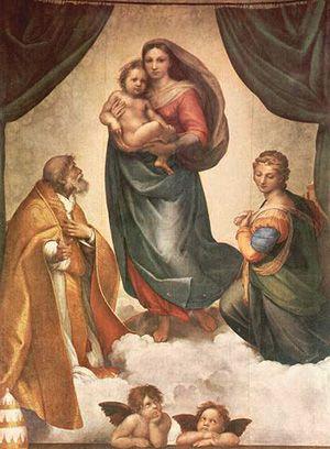 La Madone Sixtine à Dresde - Le célèbre tableau de Raphaël fête ses 500 ans -   Une exposition de la Galerie des Maître Anciens -   26 mai - 26 août 2012 - Dresde