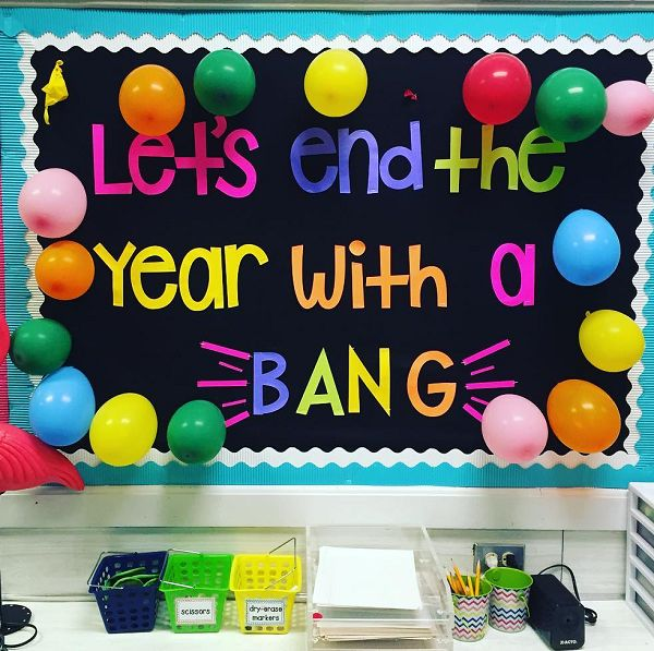Let's end the year with a bang! A fun and interactive end of the year bulletin board!