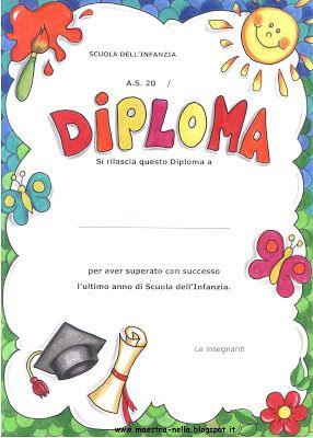 foto de 9 best diplomi bambini images on Pinterest Clip art Illustrations and Nests