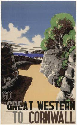 E. McKnight Kauffer (American, 1890–1954) Go Great Western to Cornwall