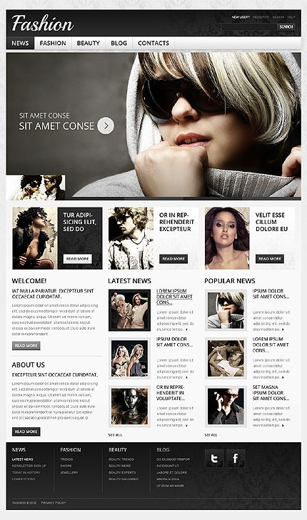 Fashion Brand Drupal Templates by Mercury