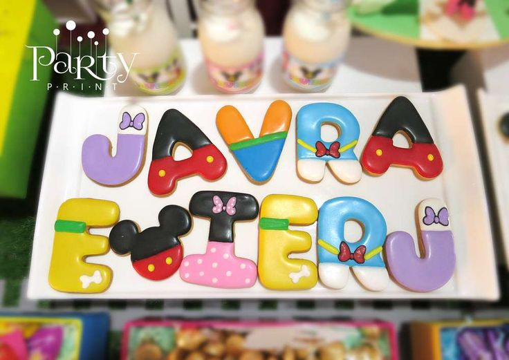 Decorated cookies at a Mickey Mouse Clubhouse birthday party! See more party planning ideas at CatchMyParty.com!