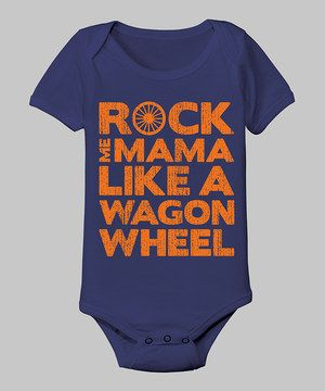 Proudly sport lyrics from a country classic in this cotton bodysuit! A lap neck and snap bottoms ensure a no-fuss fit, while the musical graphic turns any occasion into a toe-tapping good time.
