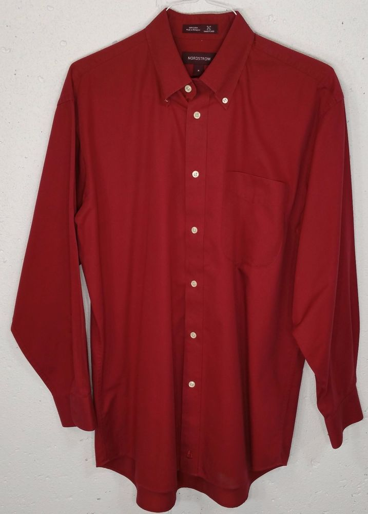 Details About Nordstrom Smartcare Mens Red 100 Cotton