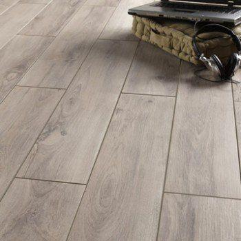 Carrelage sol et mur gris clair effet bois Havana l.15 x L.90 cm | Leroy Merlin