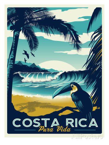 Costa Rica Schilderij van Matthew Schnepf bij AllPosters.nl