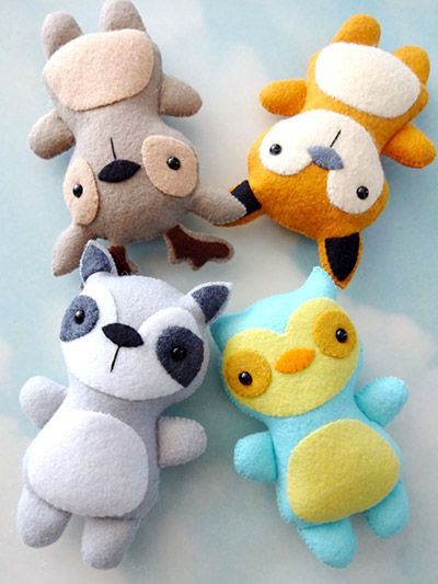 Sewing - Quick & Easy Patterns - Woodland Animal Softies