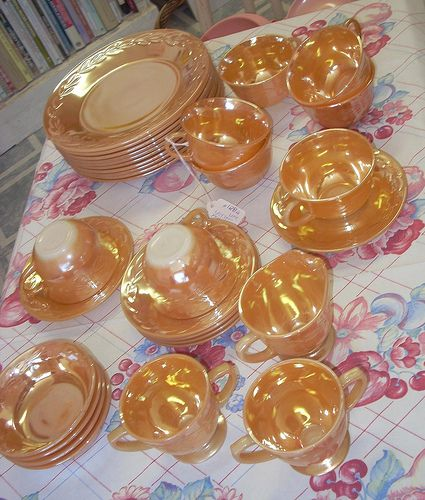 Vintage Fire King Peach Luster dishes | Flickr - Photo Sharing!