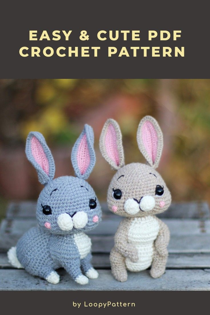 Сrochet PATTERN amigurumi BUNNY pdf tutorial how crochet   Etsy ...