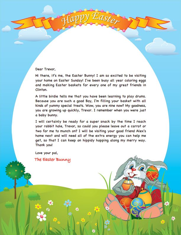 14 best easter ideas images on pinterest easter bunny easter easter bunny letter negle Gallery