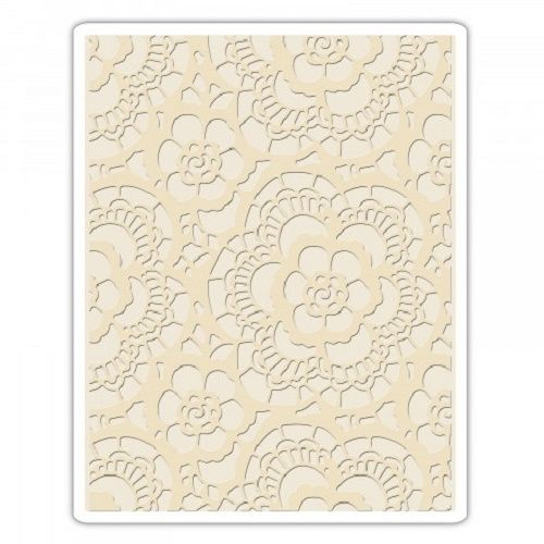 Cutting Edge Crafts, Craft Supplies, UK - **NEW** Sizzix® Texture Fades Embossing Folder - Lace by Tim Holtz® **NEW** Sizzix® Texture Fades Embossing Folder - Lace by Tim Holtz®