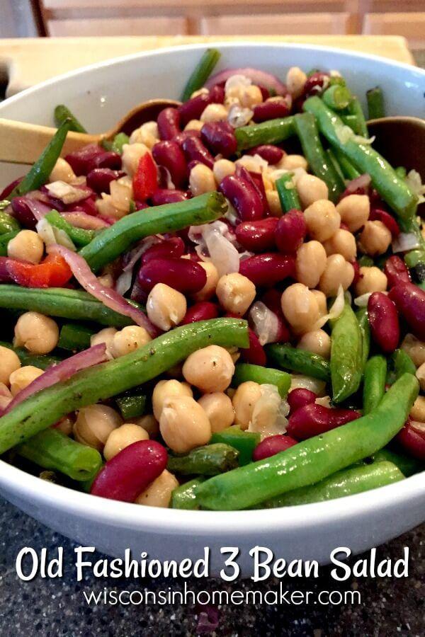 Classic Three Bean Salad Recipe Wisconsin Homemaker Recipe Bean Salad Recipes Fresh Bean Recipe Recipes With Rice Wine