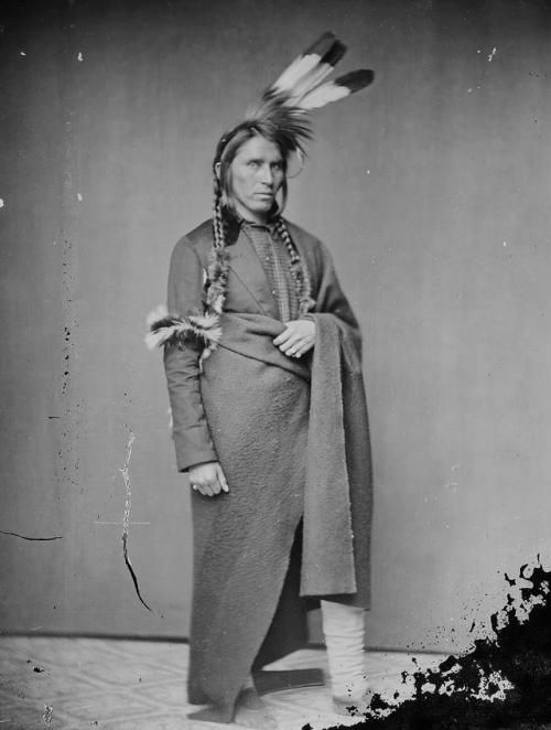 Ojibwe Chief Hole in the Day. 1860′s.