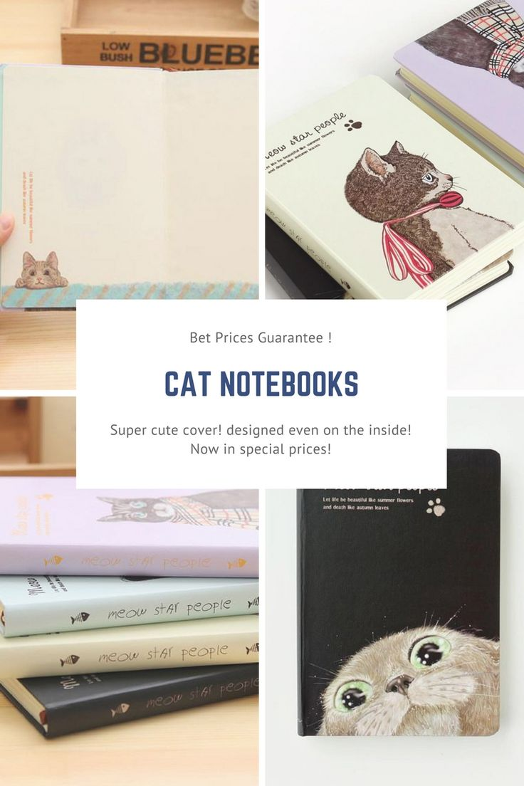 Cute Kitties Notebook!!! An Absolute essential for any cat lovers out there! Oh and it got some adorable painting inside too!