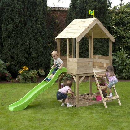TP Wood Playhouse with Slide - FSC