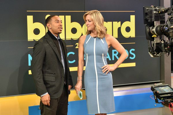"Actor/recording artist Ludacris (L) and ABC's Good Morning America co-host Lara Spencer at the ""2015 Billboard Music Awards"" Finalists Live Announcement on ""Good Morning America"" at ABC News' Good Morning America Times Square Studio on April 7, 2015 in New York City."