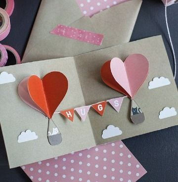 It is always hard to figure out what to give to your beloved ones on Valentine's Day. Here you will find more than 20 easy to make DIY Valentine's Day gifts ideas. Handmade Greetings, Greeting Cards Handmade, Valentines Diy, Valentine Day Gifts, Valentine Cards, Handmade Valentine Gifts, Diy And Crafts, Paper Crafts, Heart Balloons