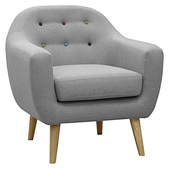 Add a touch of 1960s charisma to your living space with the Maja Light Grey Armchair from Zanui , its soft palate extending a light accent into your interior.