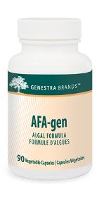 AFA-Gen by Genestra. AFA-Gen has naturally occuring niacin for the maintenance of good health, and to help the body metabolize carbohydrates, fats and proteins. AFA-Gen is also a source of 27 naturally occuring essential minerals, 12 vitamins, 10 amino acids and 32 fatty acids.